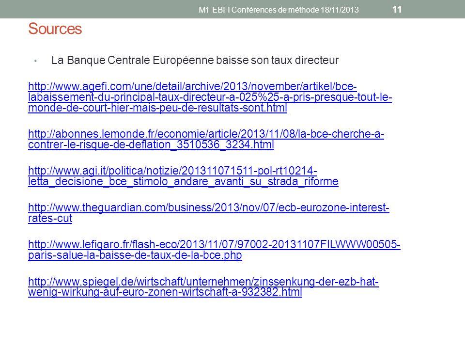 M1 EBFI Conférences de méthode 18/11/2013