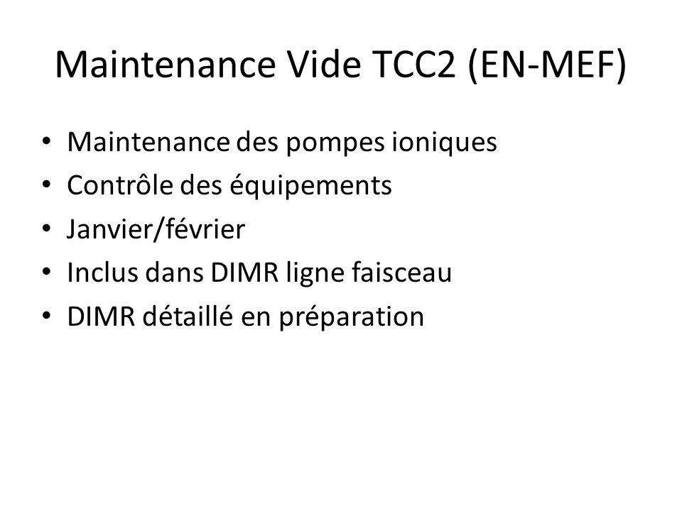 Maintenance Vide TCC2 (EN-MEF)