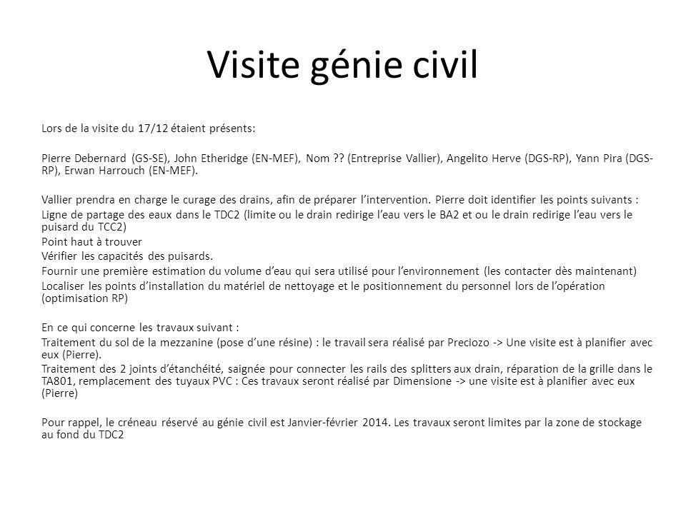 Visite génie civil