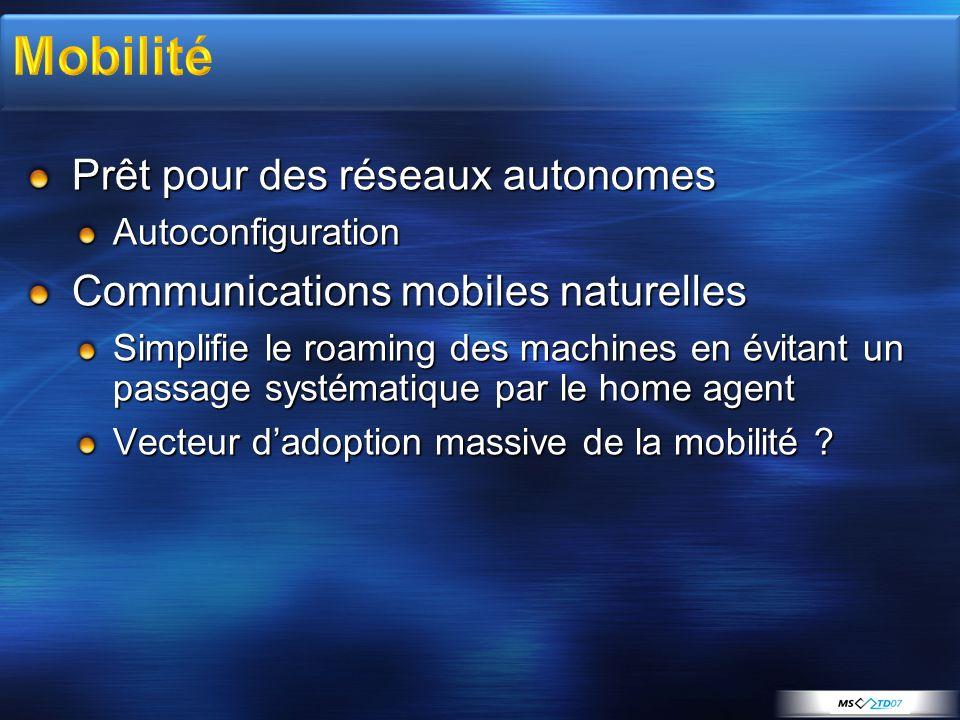 Mobilité Prêt pour des réseaux autonomes