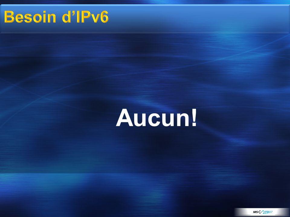 Aucun! Besoin d'IPv6 3/31/2017 3:24 AM