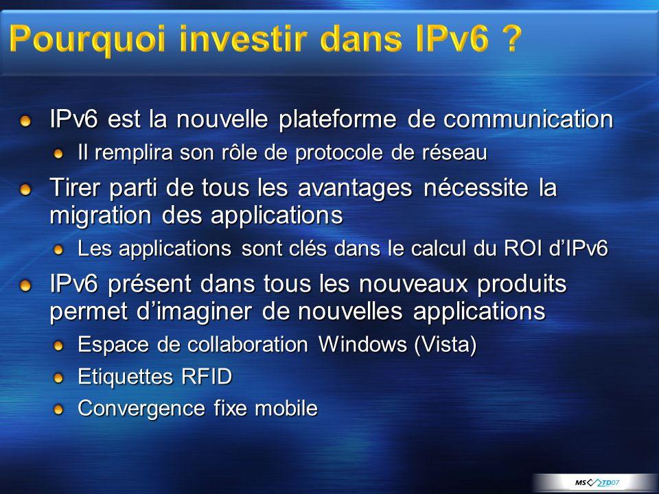Pourquoi investir dans IPv6