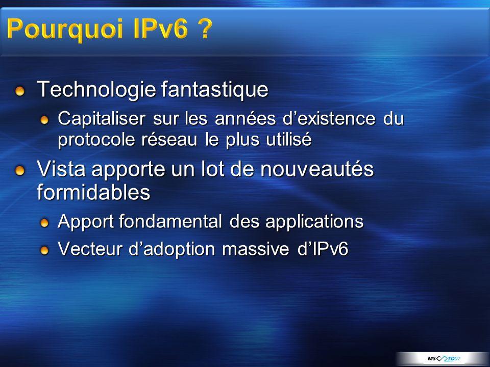 Pourquoi IPv6 Technologie fantastique