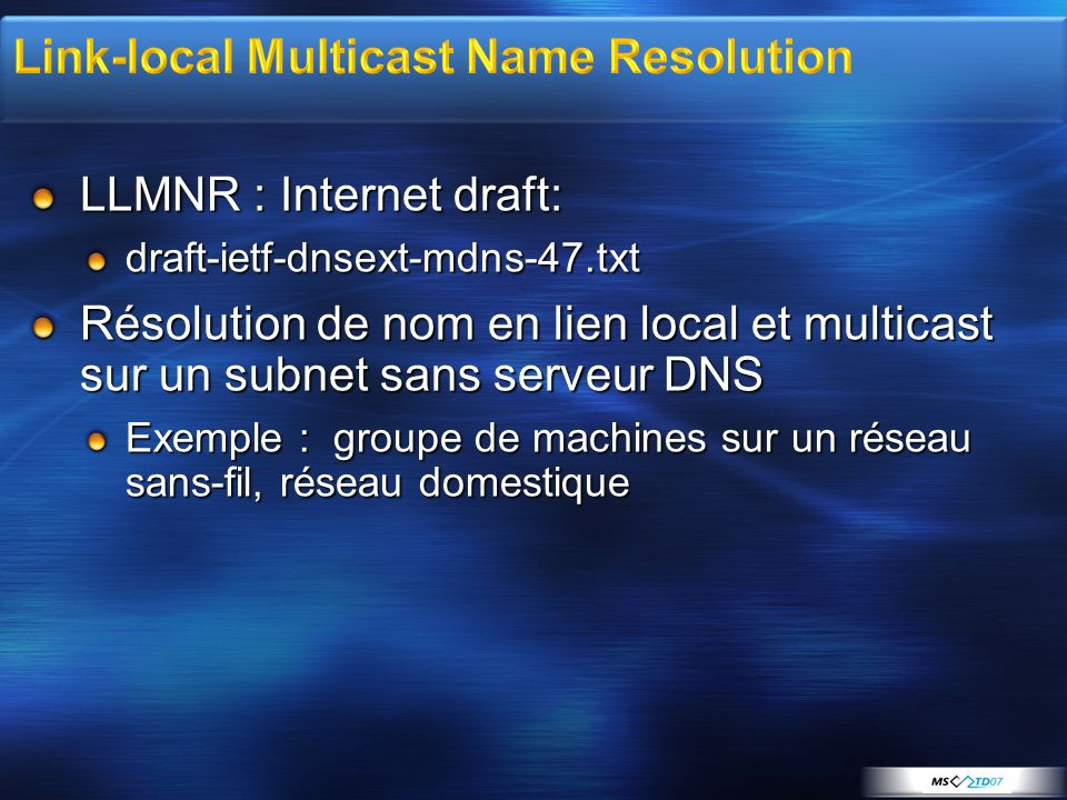 Link-local Multicast Name Resolution