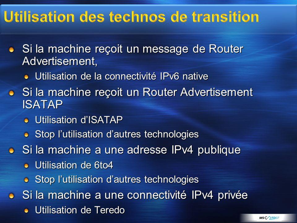 Utilisation des technos de transition