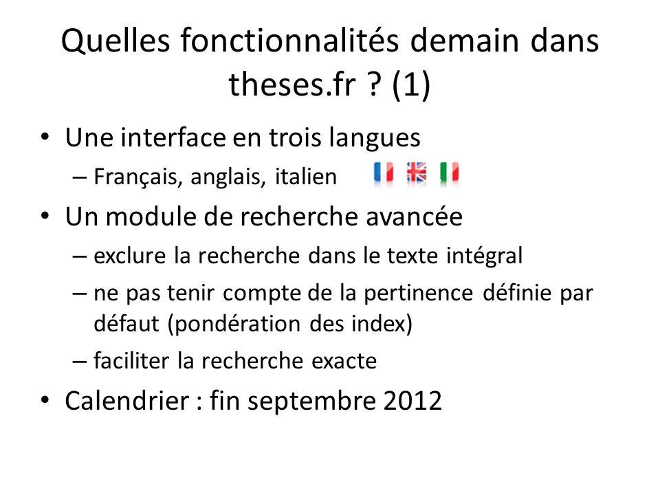 Quelles fonctionnalités demain dans theses.fr (1)