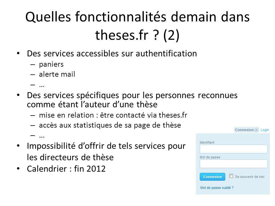 Quelles fonctionnalités demain dans theses.fr (2)
