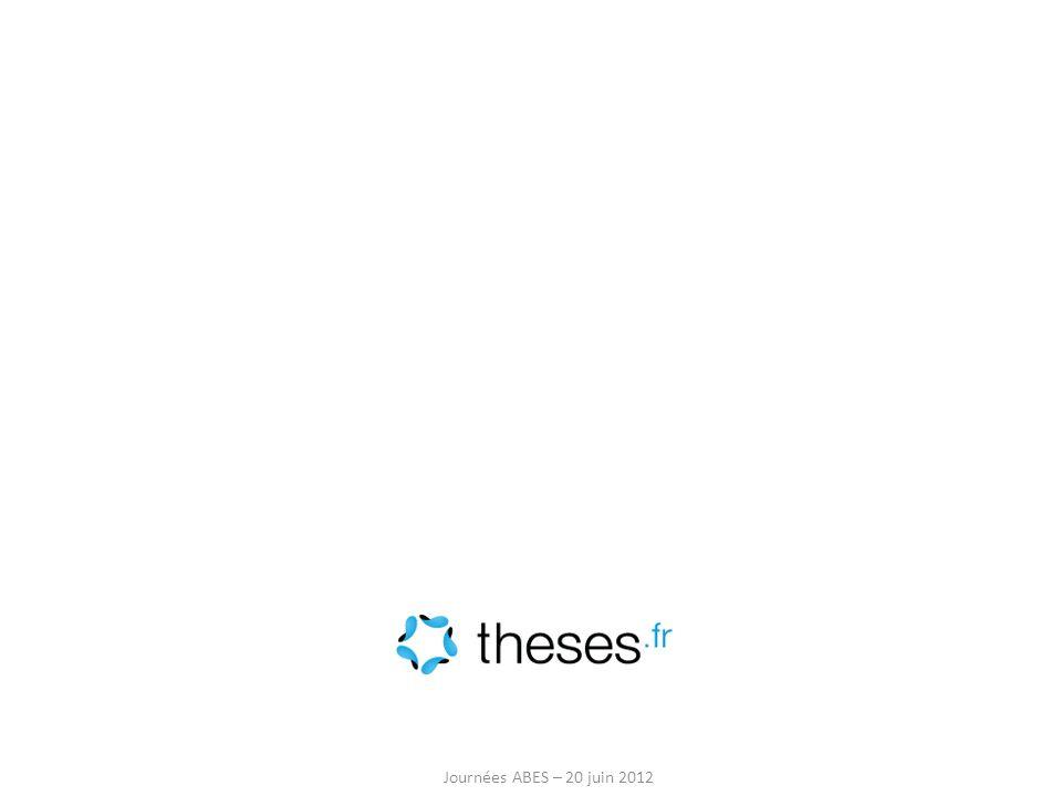 Journées ABES – 20 juin 2012