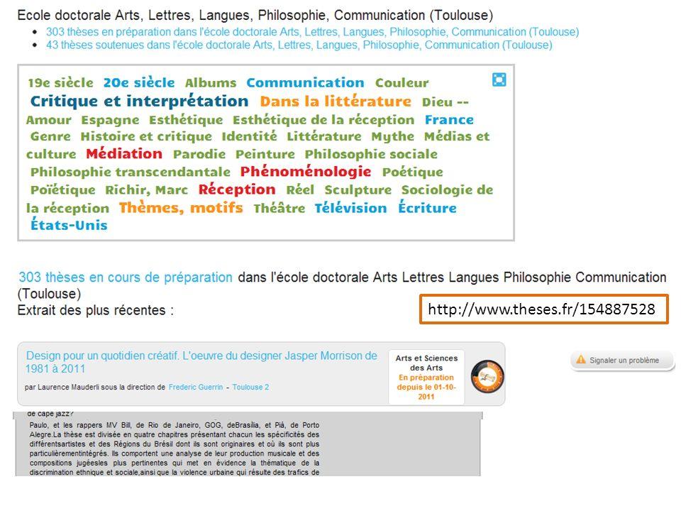 Les pages « finales » Les pages de thèses soutenues