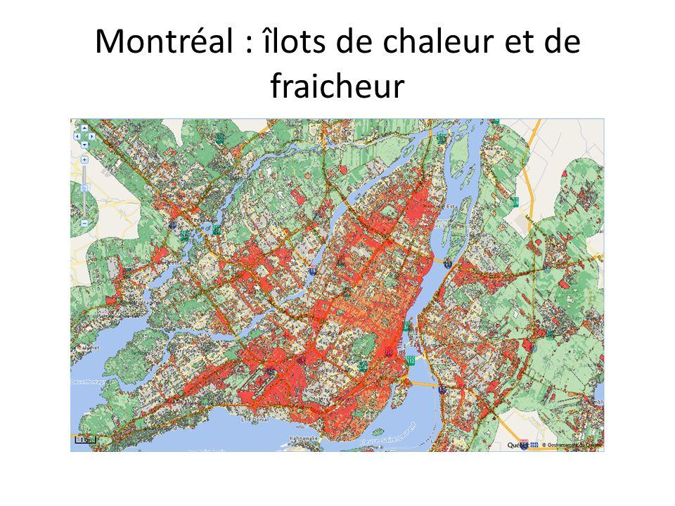 Montréal : îlots de chaleur et de fraicheur