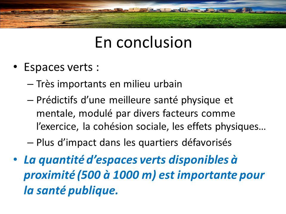 En conclusion Espaces verts :