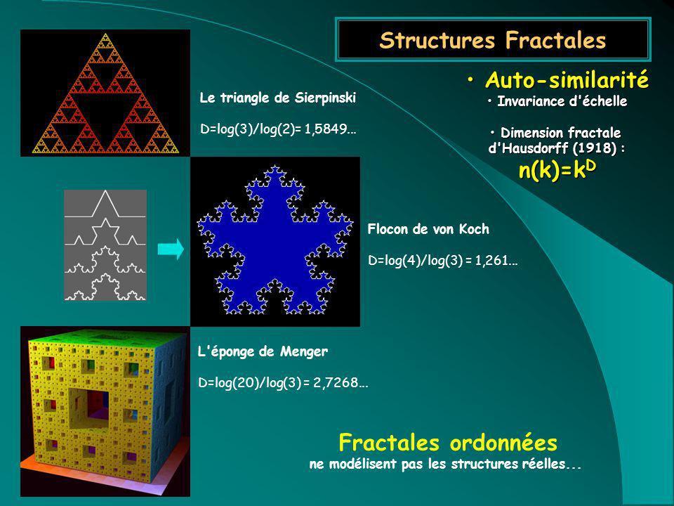 Le triangle de Sierpinski ne modélisent pas les structures réelles...