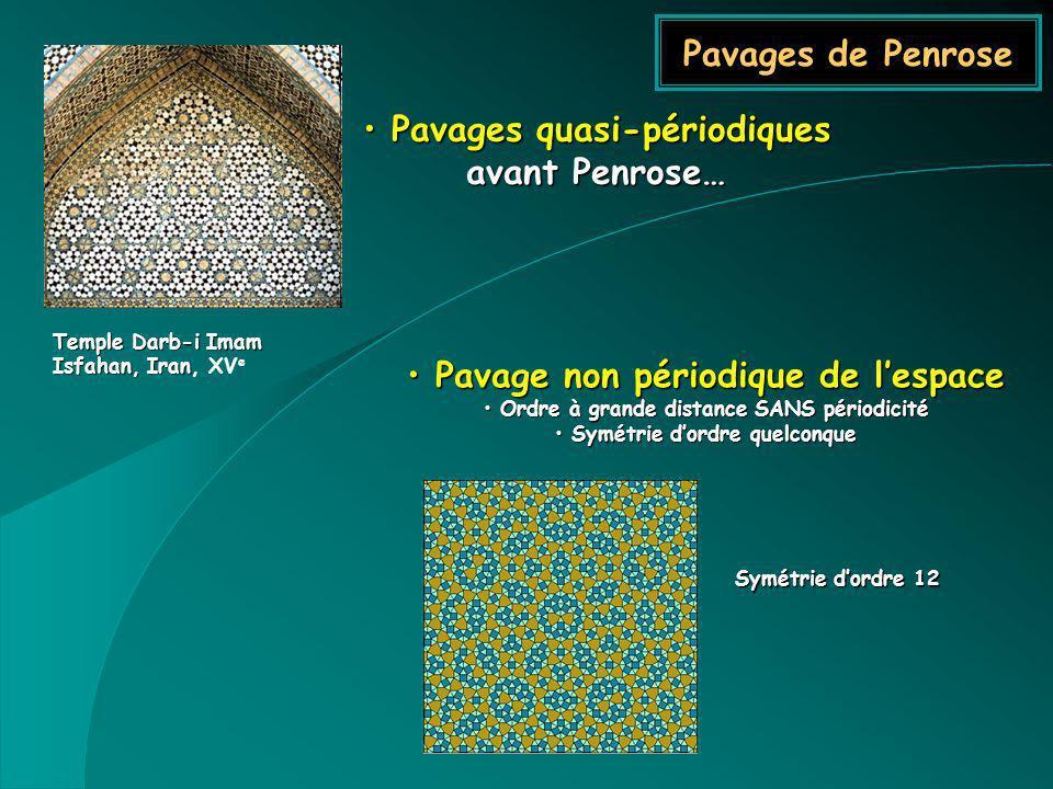 Pavages quasi-périodiques avant Penrose…
