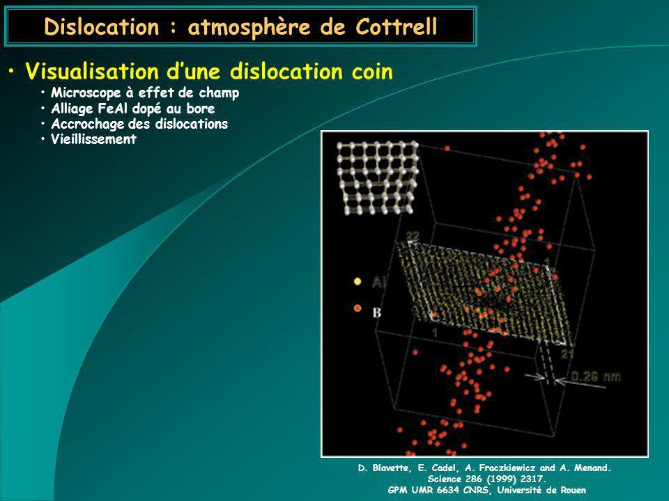 Dislocation : atmosphère de Cottrell