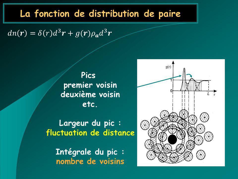 La fonction de distribution de paire