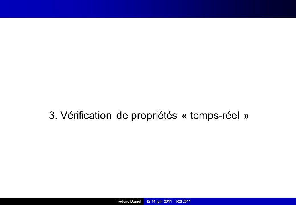 3. Vérification de propriétés « temps-réel »