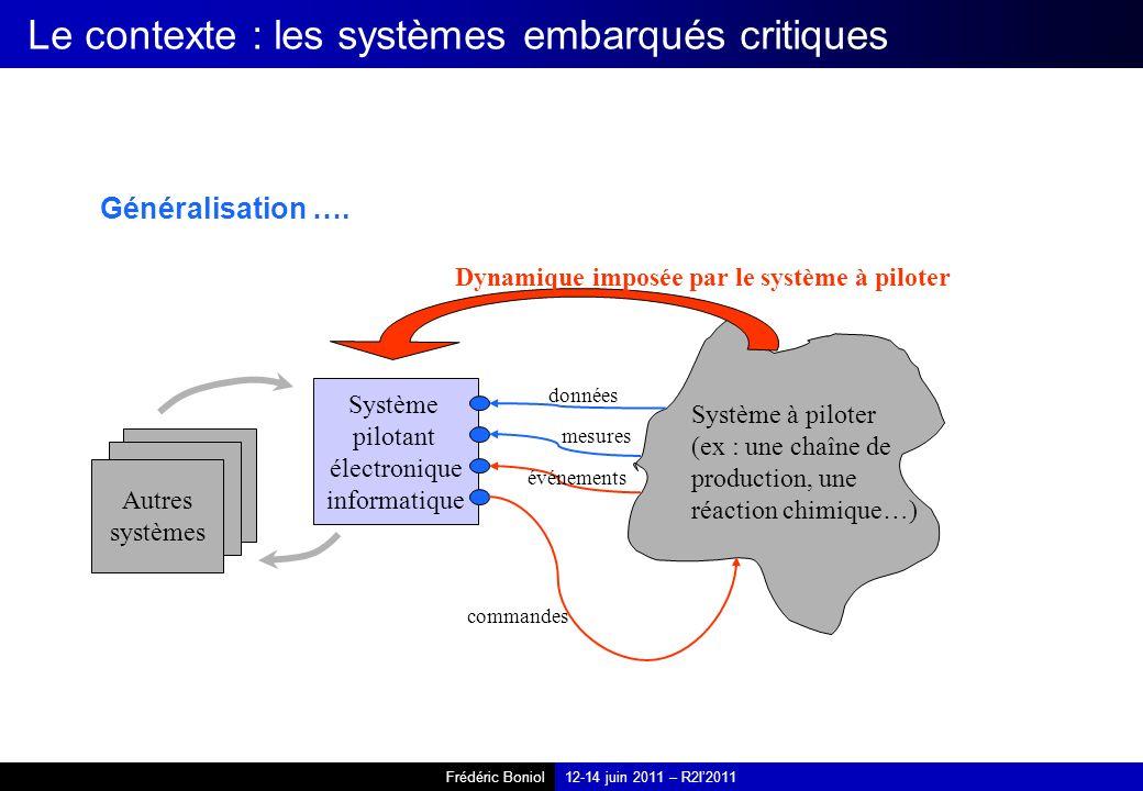 Le contexte : les systèmes embarqués critiques