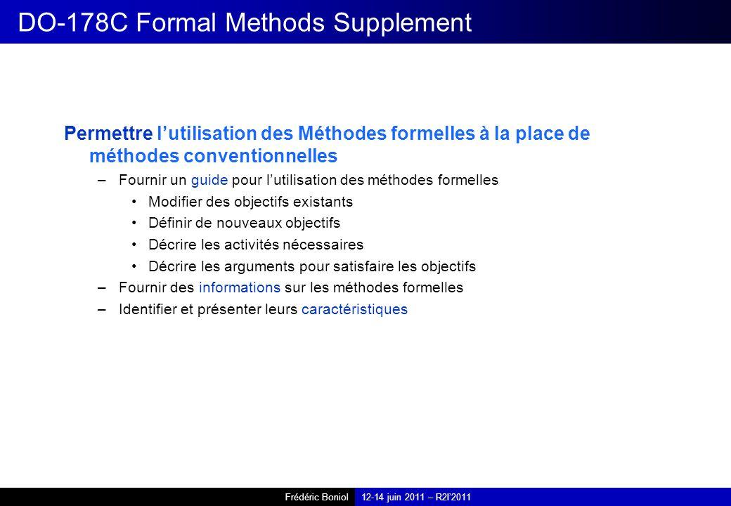 DO-178C Formal Methods Supplement