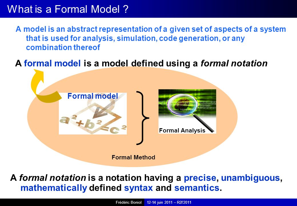 What is a Formal Model