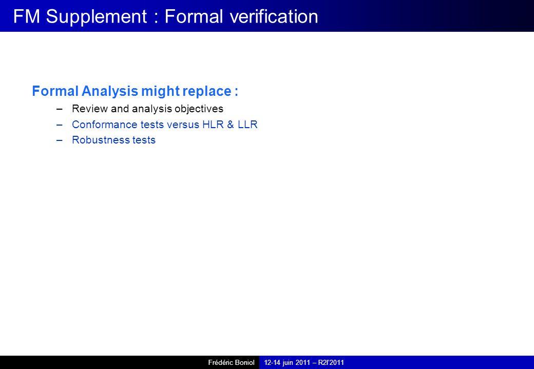 FM Supplement : Formal verification