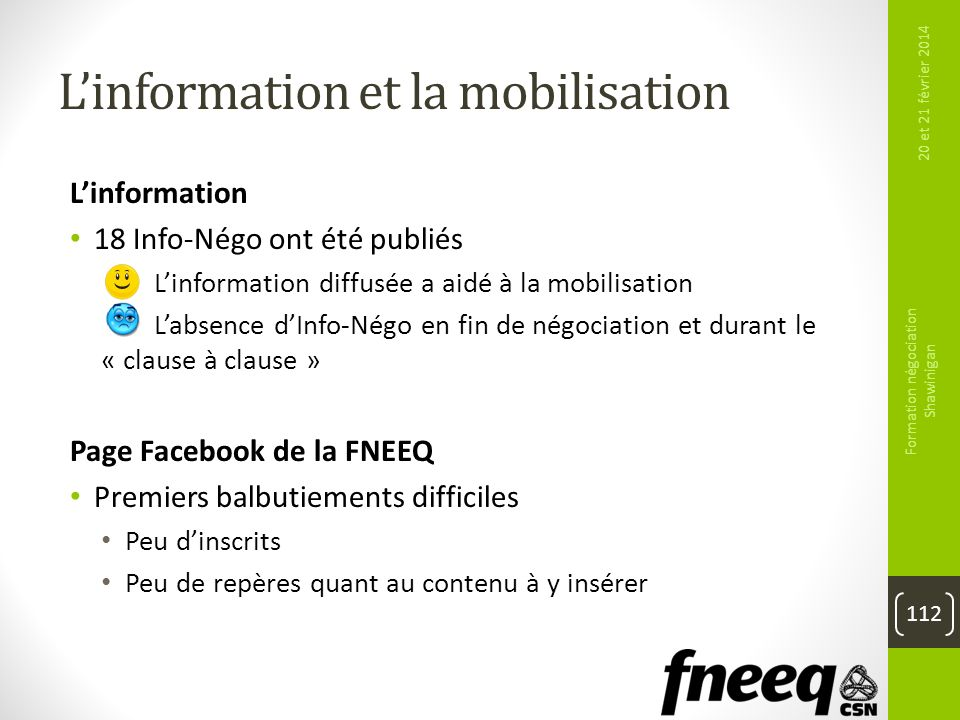 L'information et la mobilisation