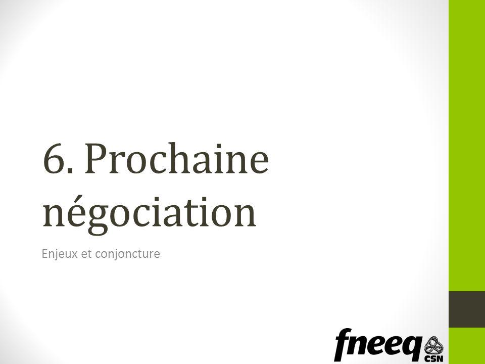 6. Prochaine négociation