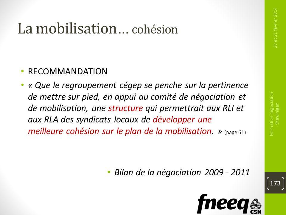 La mobilisation… cohésion