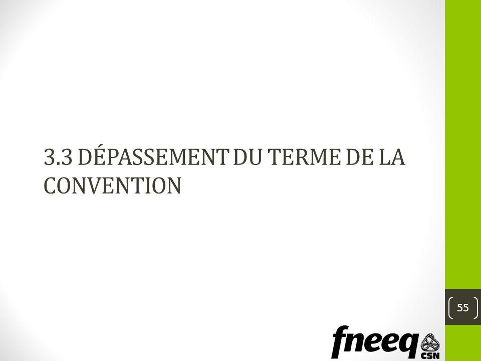 3.3 Dépassement du terme de la convention