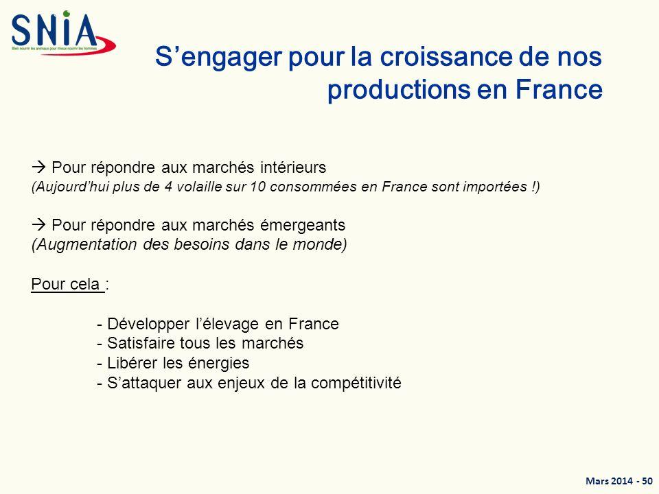 S'engager pour la croissance de nos productions en France
