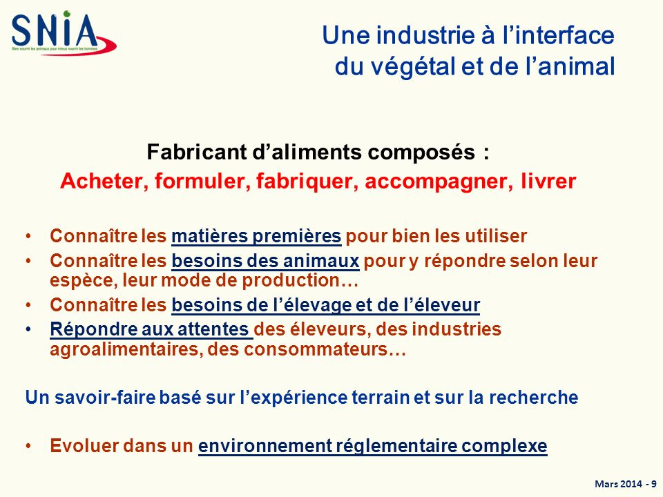 Une industrie à l'interface du végétal et de l'animal