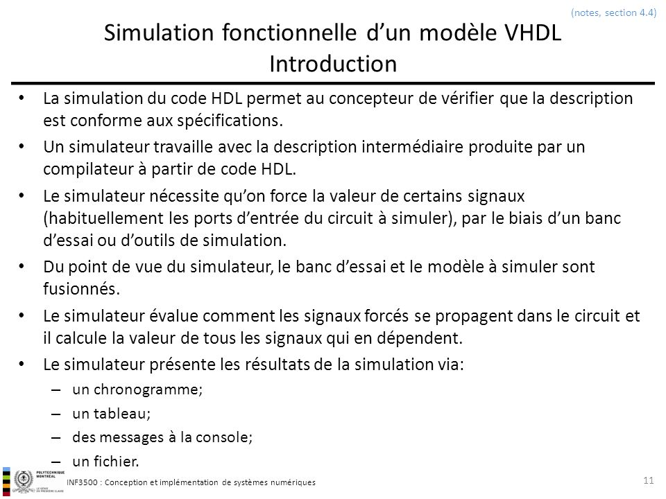 Simulation fonctionnelle d'un modèle VHDL Introduction