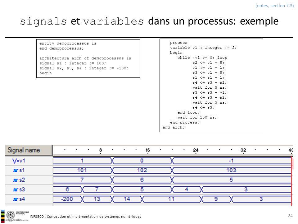signals et variables dans un processus: exemple