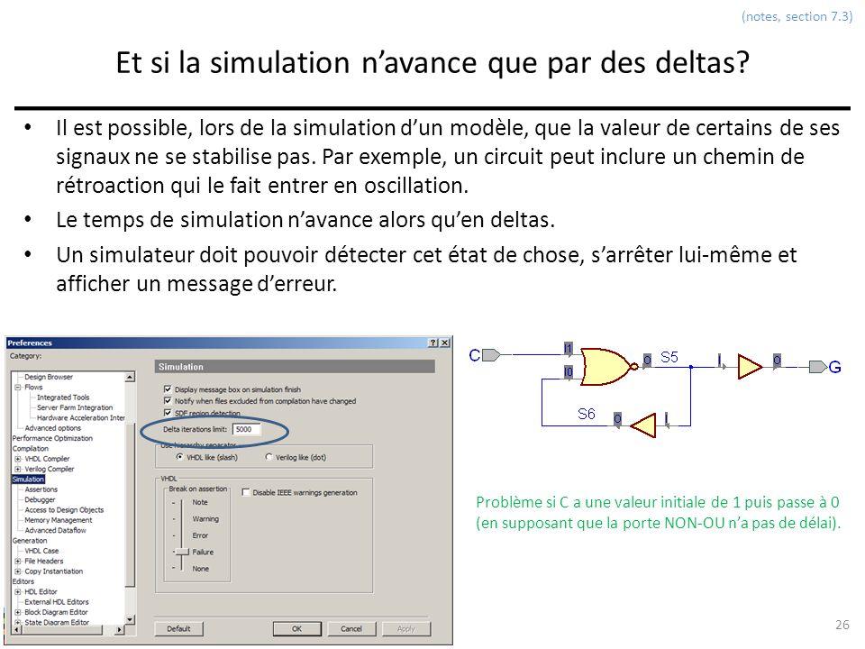 Et si la simulation n'avance que par des deltas