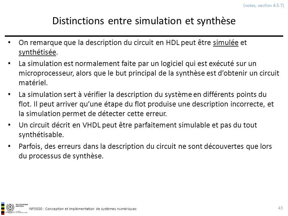 Distinctions entre simulation et synthèse