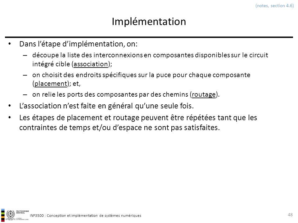 Implémentation Dans l'étape d'implémentation, on:
