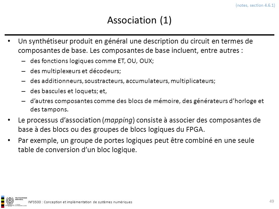 (notes, section 4.6.1) Association (1)