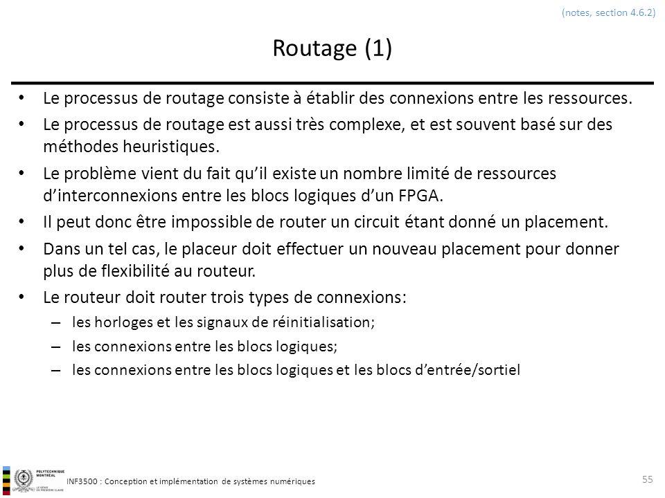 (notes, section 4.6.2) Routage (1) Le processus de routage consiste à établir des connexions entre les ressources.