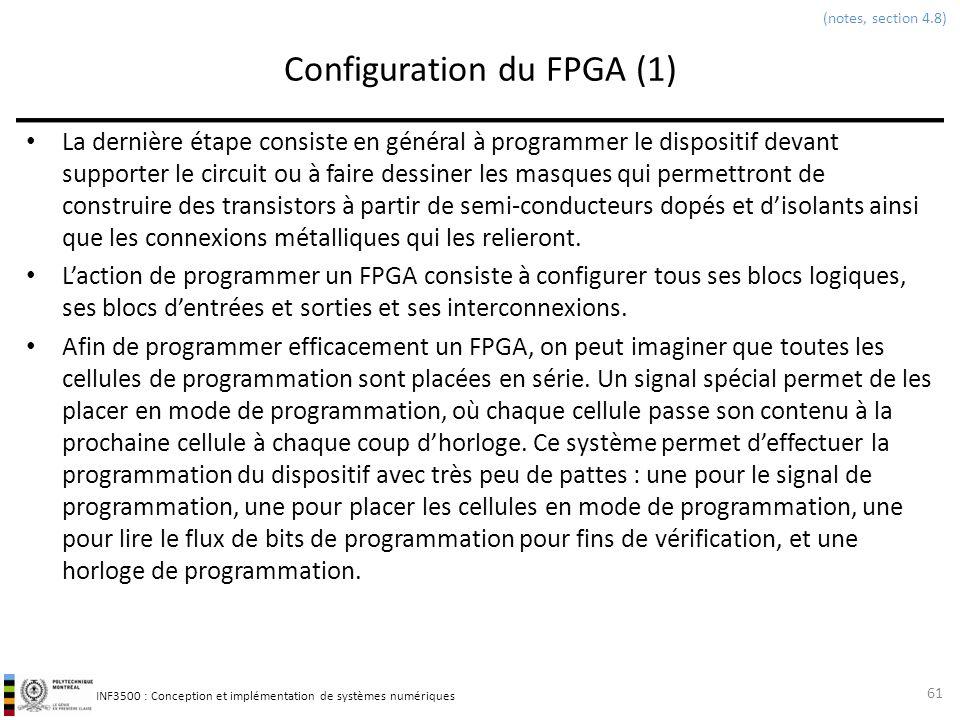 Configuration du FPGA (1)