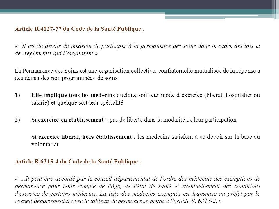 Article R.4127-77 du Code de la Santé Publique :
