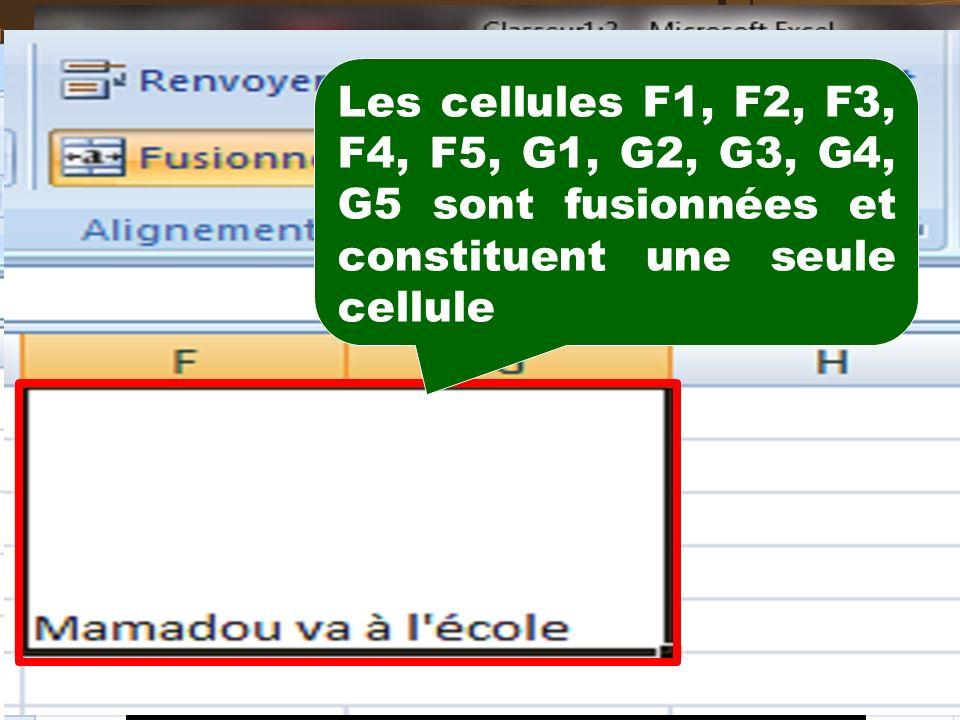 BOITE DE DIALOGUE ''FORMAT DE CELLULE - ALIGNEMENT''