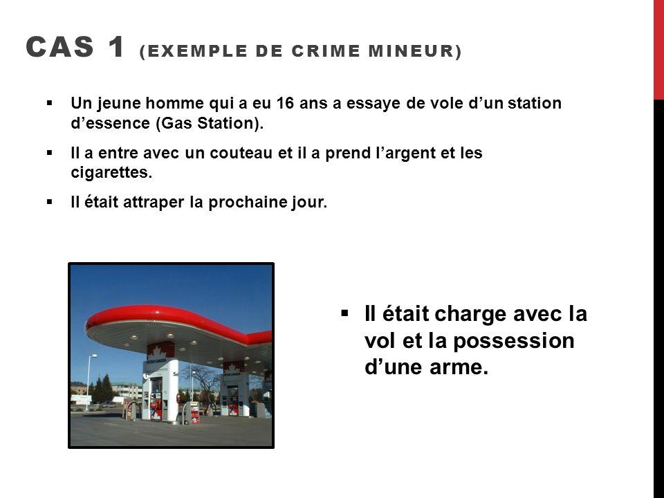 CAS 1 (exemple de crime mineur)