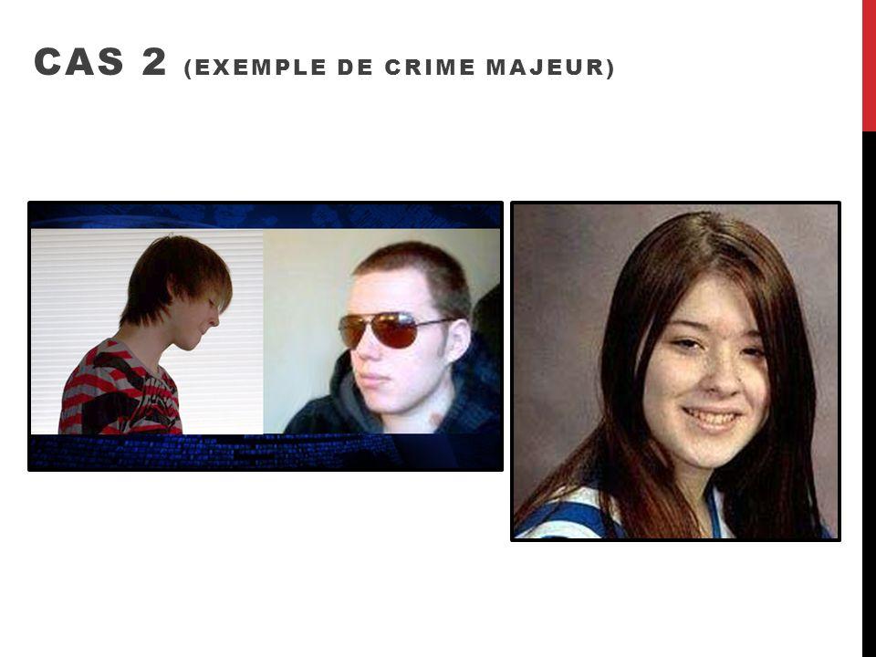 CAS 2 (EXEMPLE DE CRIME MAJEUR)