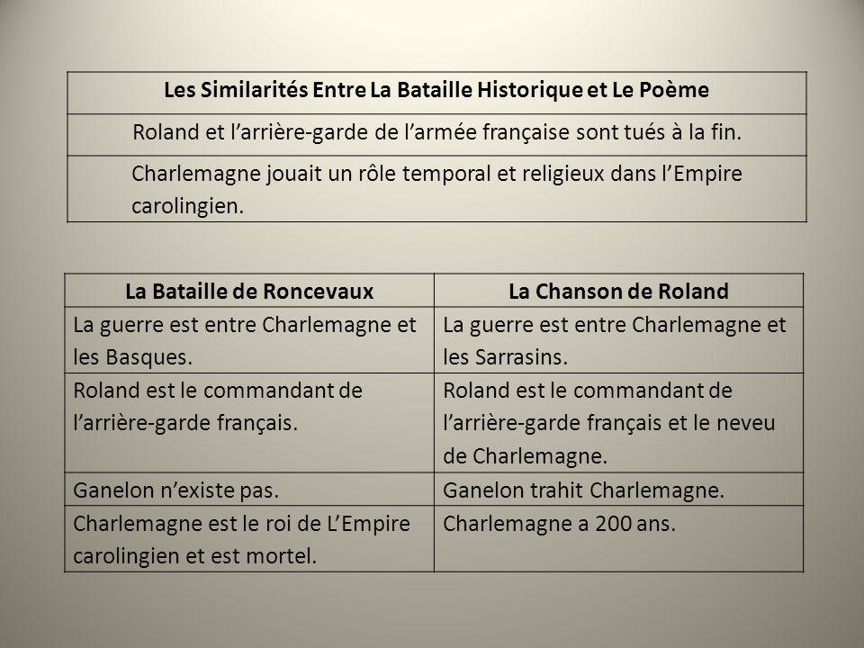 Les Similarités Entre La Bataille Historique et Le Poème