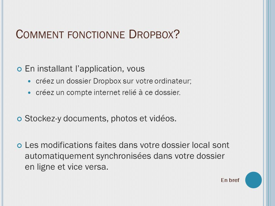 Comment fonctionne Dropbox