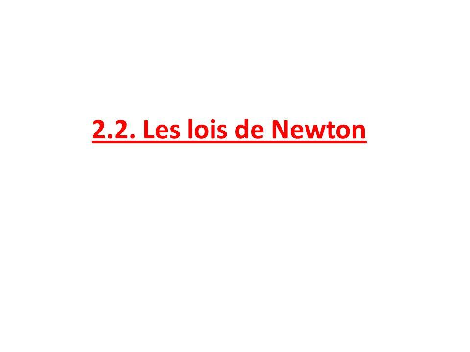 2.2. Les lois de Newton