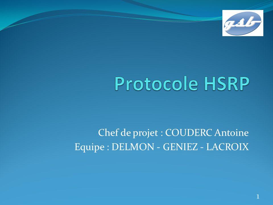 Chef de projet : COUDERC Antoine Equipe : DELMON - GENIEZ - LACROIX