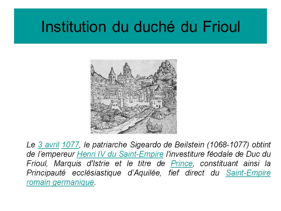 Institution du duché du Frioul