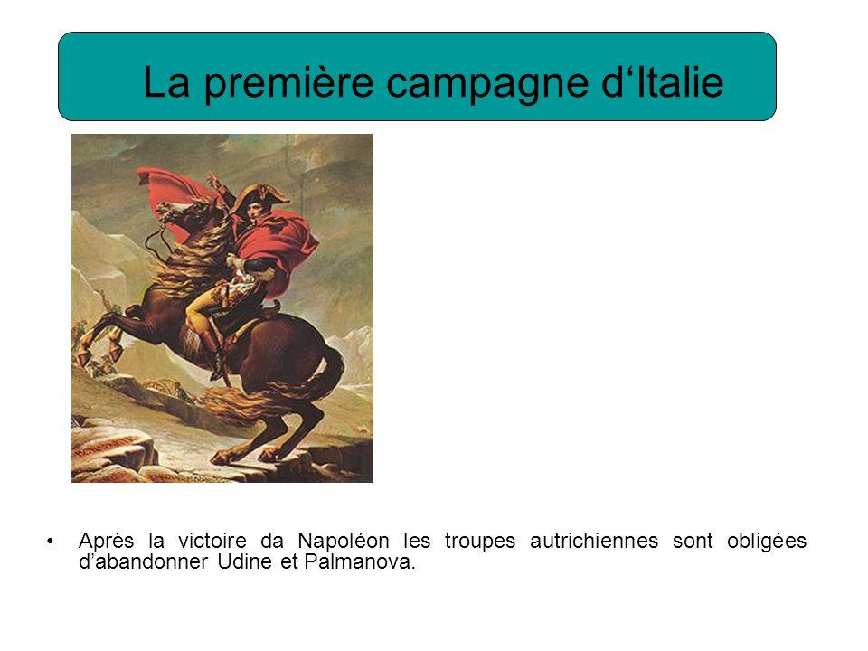La première campagne d'Italie