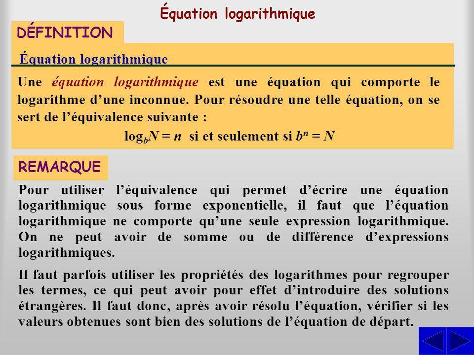 Équation logarithmique