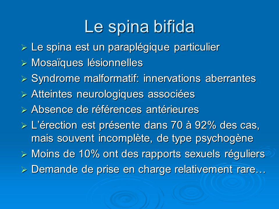 Le spina bifida Le spina est un paraplégique particulier